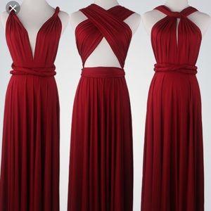 Dresses & Skirts - Convertible Wine Wrap Dress